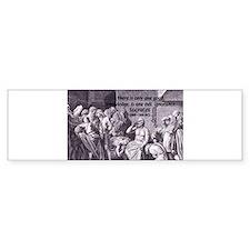 Death of Socrates Bumper Bumper Sticker