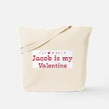 Jacob is my valentine Tote Bag