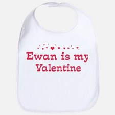 Ewan is my valentine Bib