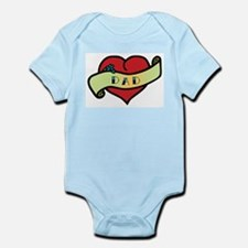 Dad Tattoo Heart Infant Bodysuit