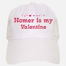 Homer is my valentine Baseball Baseball Cap