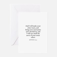 LEVITICUS  26:31 Greeting Cards (Pk of 10)