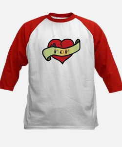 Mom Tattoo Heart Kids Baseball Jersey