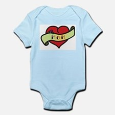Mom Tattoo Heart Onesie