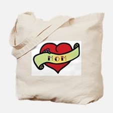 Mom Tattoo Heart Tote Bag