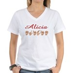 Alicia Women's V-Neck T-Shirt