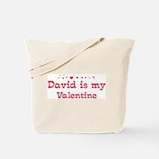 David is my valentine Tote Bag