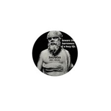 Socrates: Wisdom from Leisure Mini Button