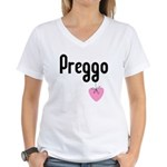 Preggo Heart Women's V-Neck T-Shirt