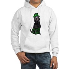 Irish black lab Hoodie