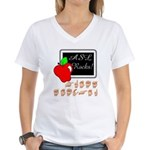 Great Teacher Female Women's V-Neck T-Shirt