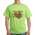 Martina broke my heart and I hate her Green T-Shir