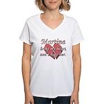 Martina broke my heart and I hate her Women's V-Ne