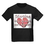 Martina broke my heart and I hate her Kids Dark T-
