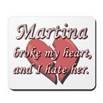 Martina broke my heart and I hate her Mousepad