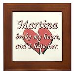 Martina broke my heart and I hate her Framed Tile