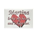 Martina broke my heart and I hate her Rectangle Ma