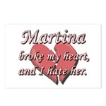 Martina broke my heart and I hate her Postcards (P