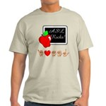 I Love ASL Male Light T-Shirt
