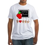 I Love ASL Male Fitted T-Shirt