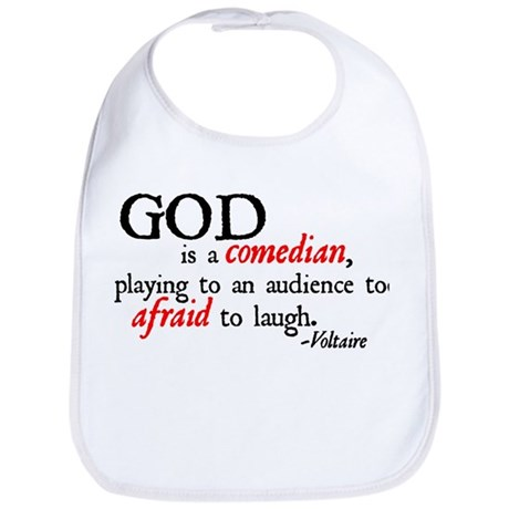God is a Comedian Bib
