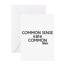 Common Sense Not So Common Greeting Card