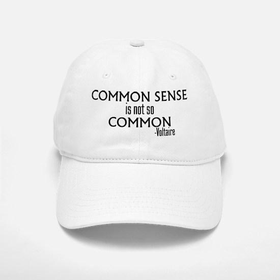 Common Sense Not So Common Baseball Baseball Cap