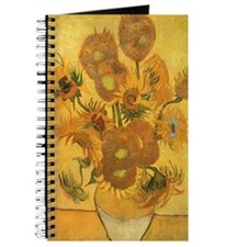 Van Gogh Vase w Sunflowers Journal