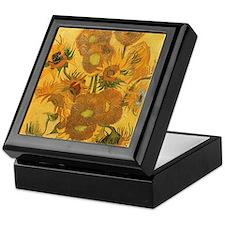 Van Gogh Vase w Sunflowers Keepsake Box