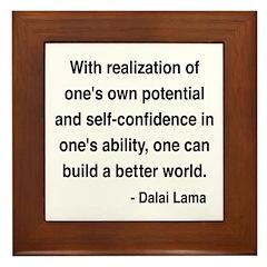 Dalai Lama 19 Framed Tile