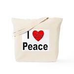 I Love Peace Tote Bag