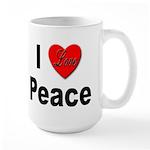 I Love Peace Large Mug