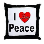 I Love Peace Throw Pillow