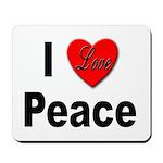 I Love Peace Mousepad