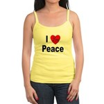 I Love Peace Jr. Spaghetti Tank