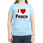 I Love Peace (Front) Women's Pink T-Shirt