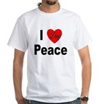 I Love Peace (Front) White T-Shirt
