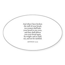 LEVITICUS 26:26 Oval Decal