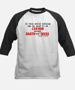 Death and Taxes Kids Baseball Jersey