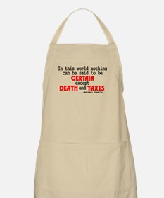 Death and Taxes BBQ Apron