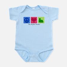 Peace Love Yorkie Infant Bodysuit