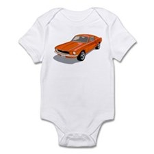 1968 Ford Mustang Fastback Infant Bodysuit