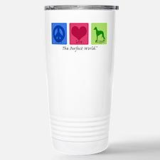 Peace Love Whippet Travel Mug