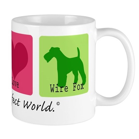 Peace Love Wire Fox Mug