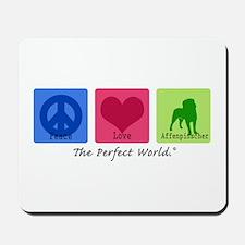 Peace Love Affenpinscher Mousepad
