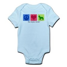 Peace Love Briard Infant Bodysuit