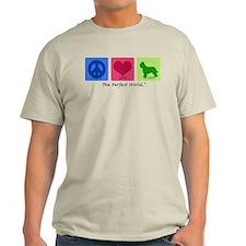 Peace Love Briard T-Shirt