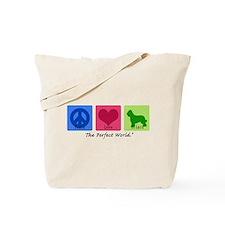 Peace Love Briard Tote Bag