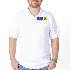 Peace Love Bullmastiff T-Shirt