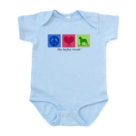 Peace Love Bullmastiff Infant Bodysuit